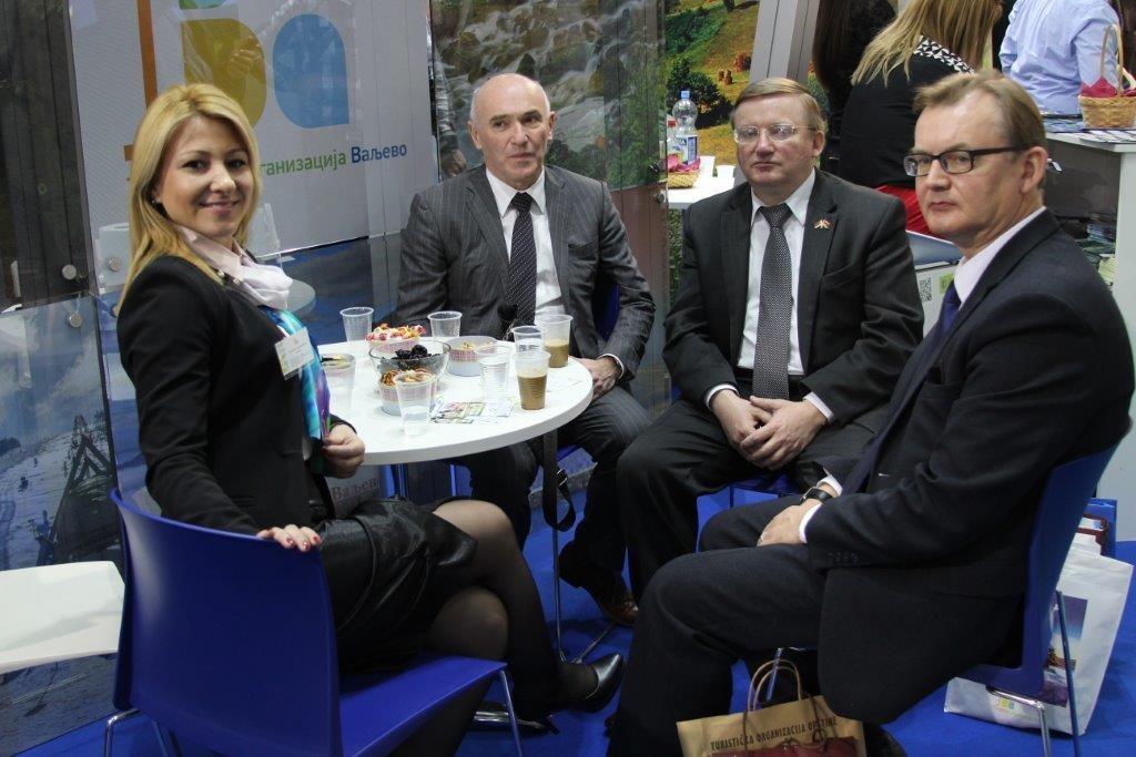 Ambasador Belorusije u Beogradu Vladimir Čušev zajedno sa delegacijom,I direktorka turisticke organizacije Valjevo Ana Markovic.